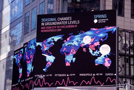 Richard Vijgen's visualization in Times Square