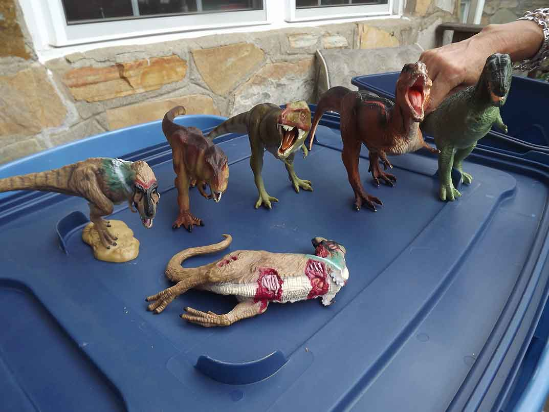 Collection Boxes of Toy Dinos