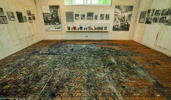 Pollock-Krasner House and Study Center, East Hampton, NY, Floor of Studio, 2018.