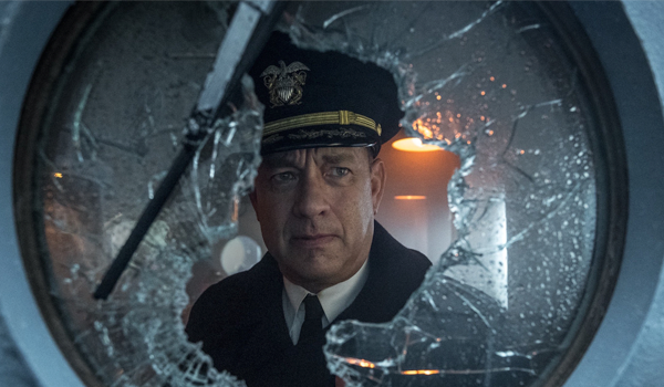 Tom Hanks portrays fictional Navy commander Ernest Krause.