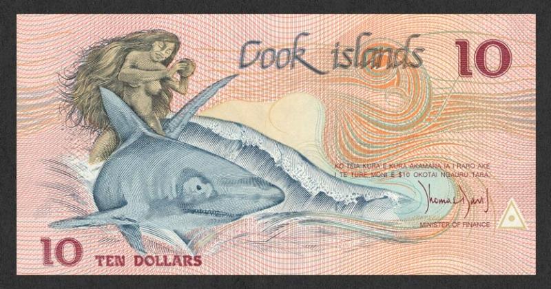 10 Dollars Cook Islands's Banknote