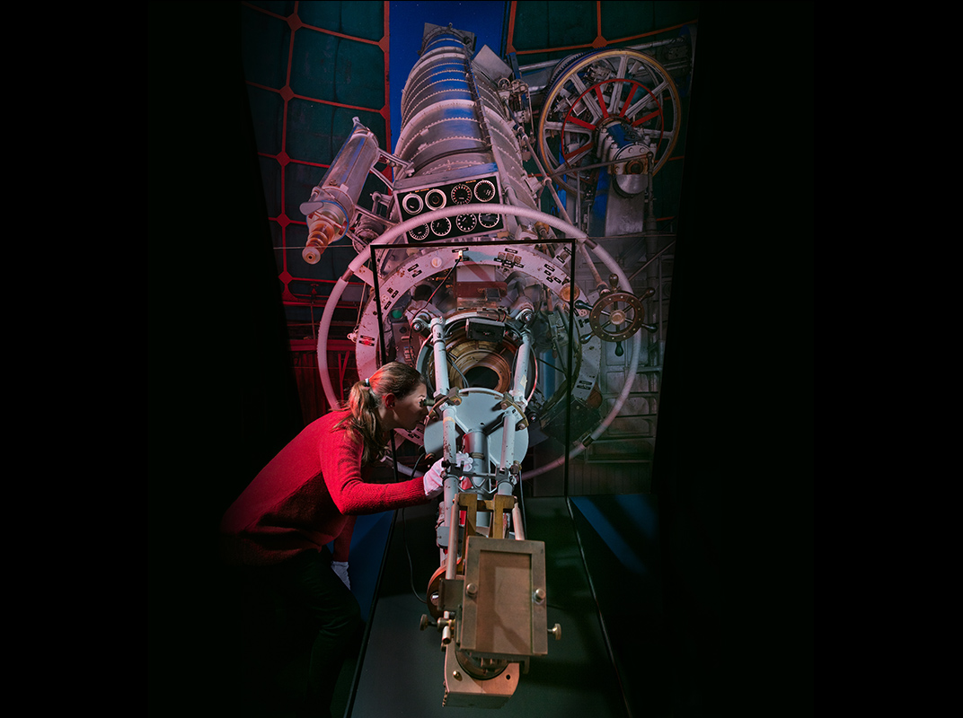 The author with the spectroscope