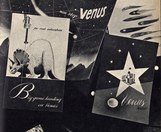 Promotional materials for a trip to Venus