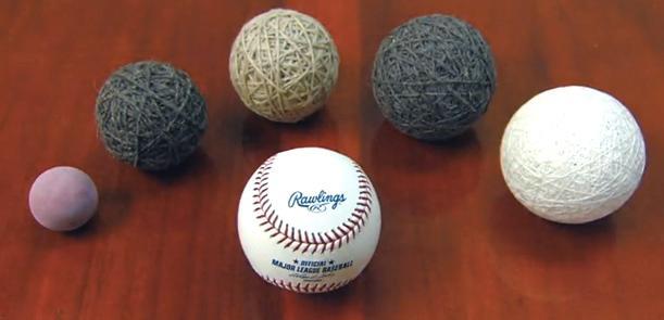 The construction of a modern baseball