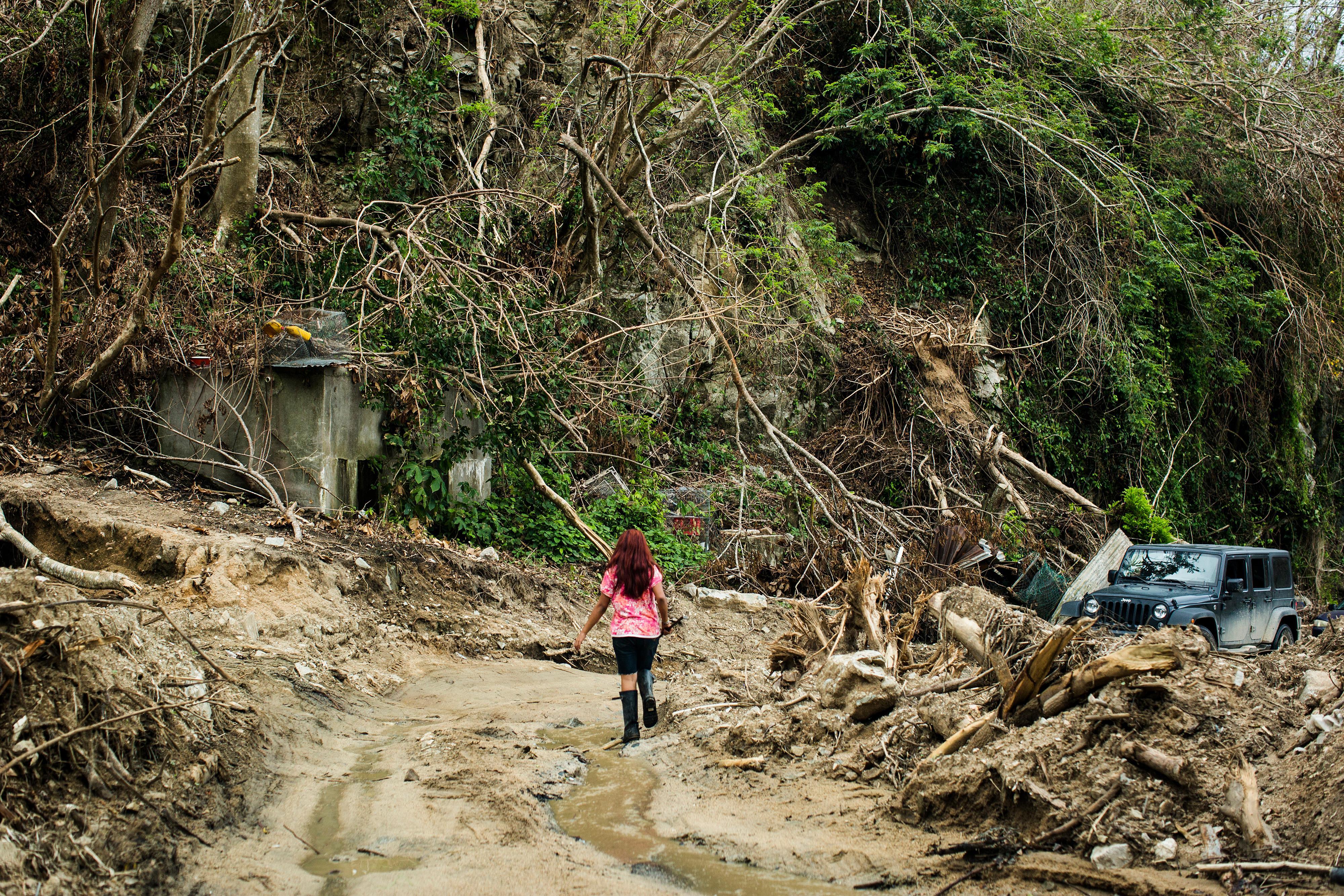 a girl in the mountainous central city of Utuado