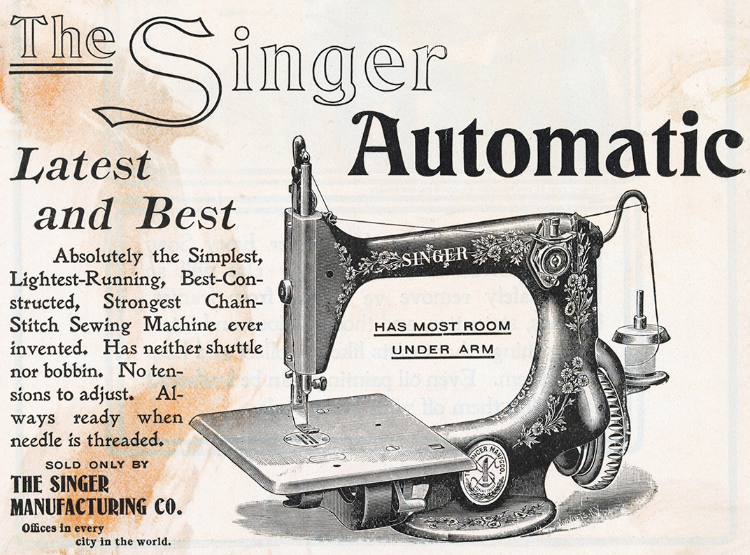 Singer Sewing Machine Advertisement