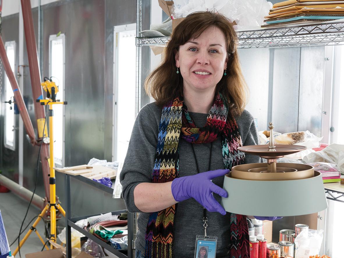 Curator Margaret Weitekamp