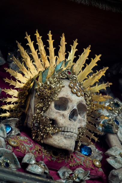 Only the head of Saint Benedictus