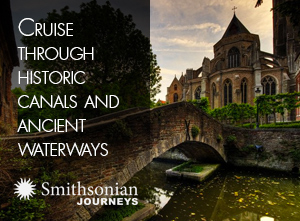 Cruise through historic canals and ancient waterways