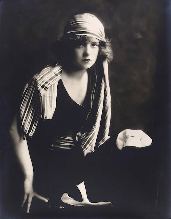Clara Gordon Bow by Alfred Cheney Johnston. Gelatin silver print, 1927