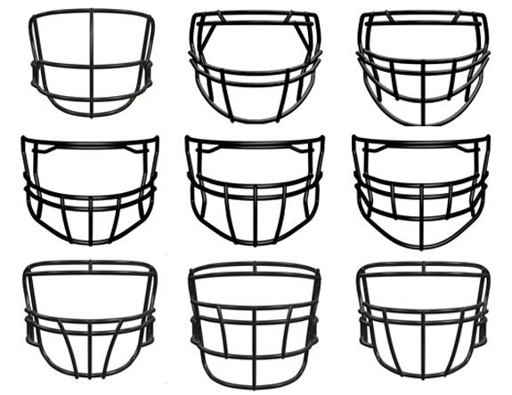 A sampling of the many face masks offered by Riddel