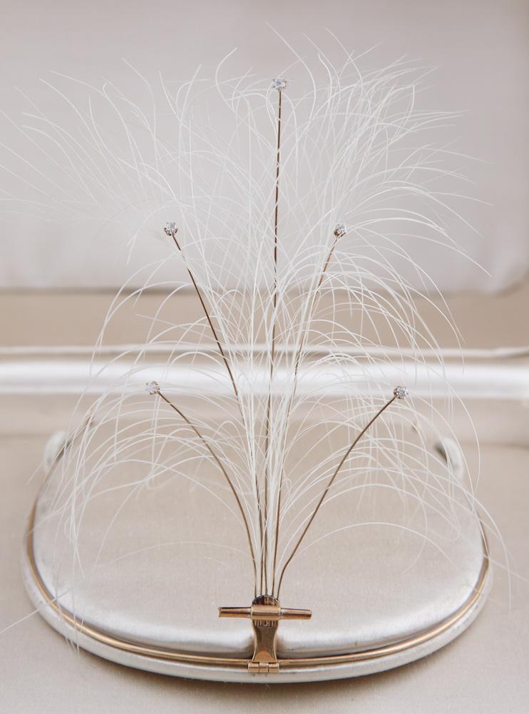 Aigrette hair ornament