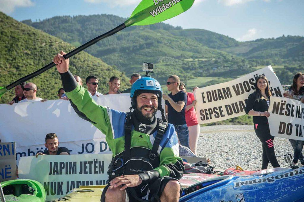 Rok Rozman and other anti-dam protesters have worked to block projects on the Vjosa.