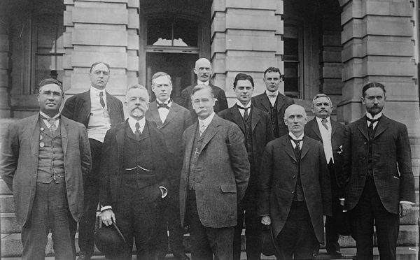 The Dillingham Commission, named for Sen. William Paul Dillingham, front row, middle.