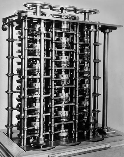 Charles Babbage differential calculating machine