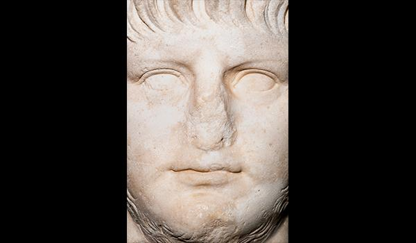 A portrait in marble of the emperor, circa A.D. 60.