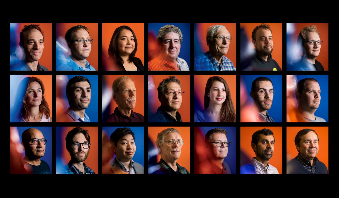 Left to right, top to bottom, some of the researchers behind the first-ever photograph of a black hole: Sheperd Doeleman, Sandra Bustamante, Jonathan Weintroub, James Moran; Feryal Ozel, Neil Erickson, Peter Galison, Katie Bouman; Nimesh Patel, Kazinori Akiyama, Vernon Fath, Mark Gurwell
