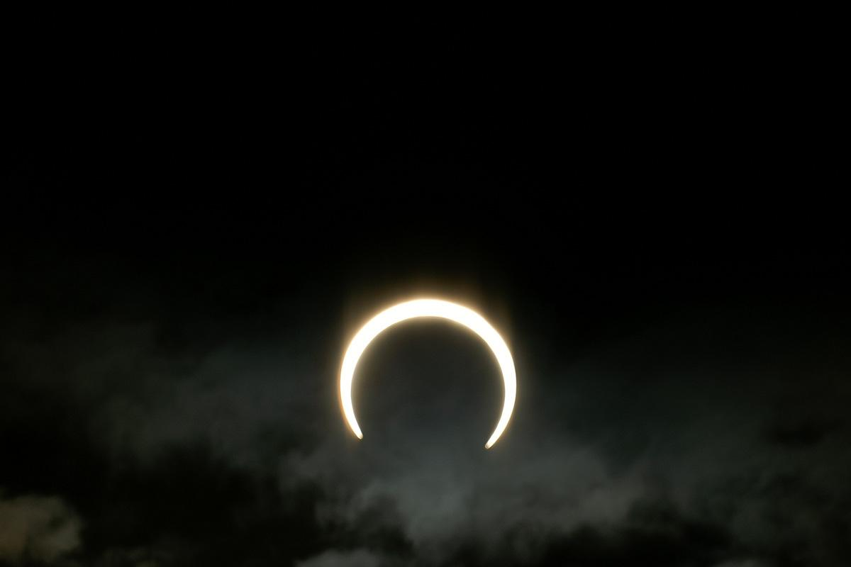 A partial solar eclipse in Hyogo, Japan, May 2012