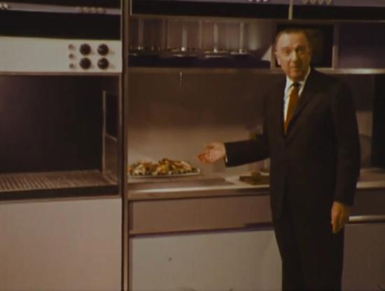 Walter Cronkite in Philco-Ford kitchen