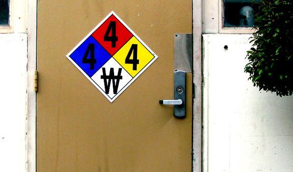 An NFPA 704 sign