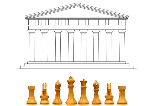 Daniel Weil's Staunton design was inspired by the Parthenon