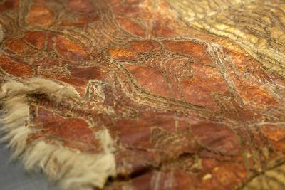 The possum skin cloak at the Natural History Museum was collected near the Hunter River in 1840.