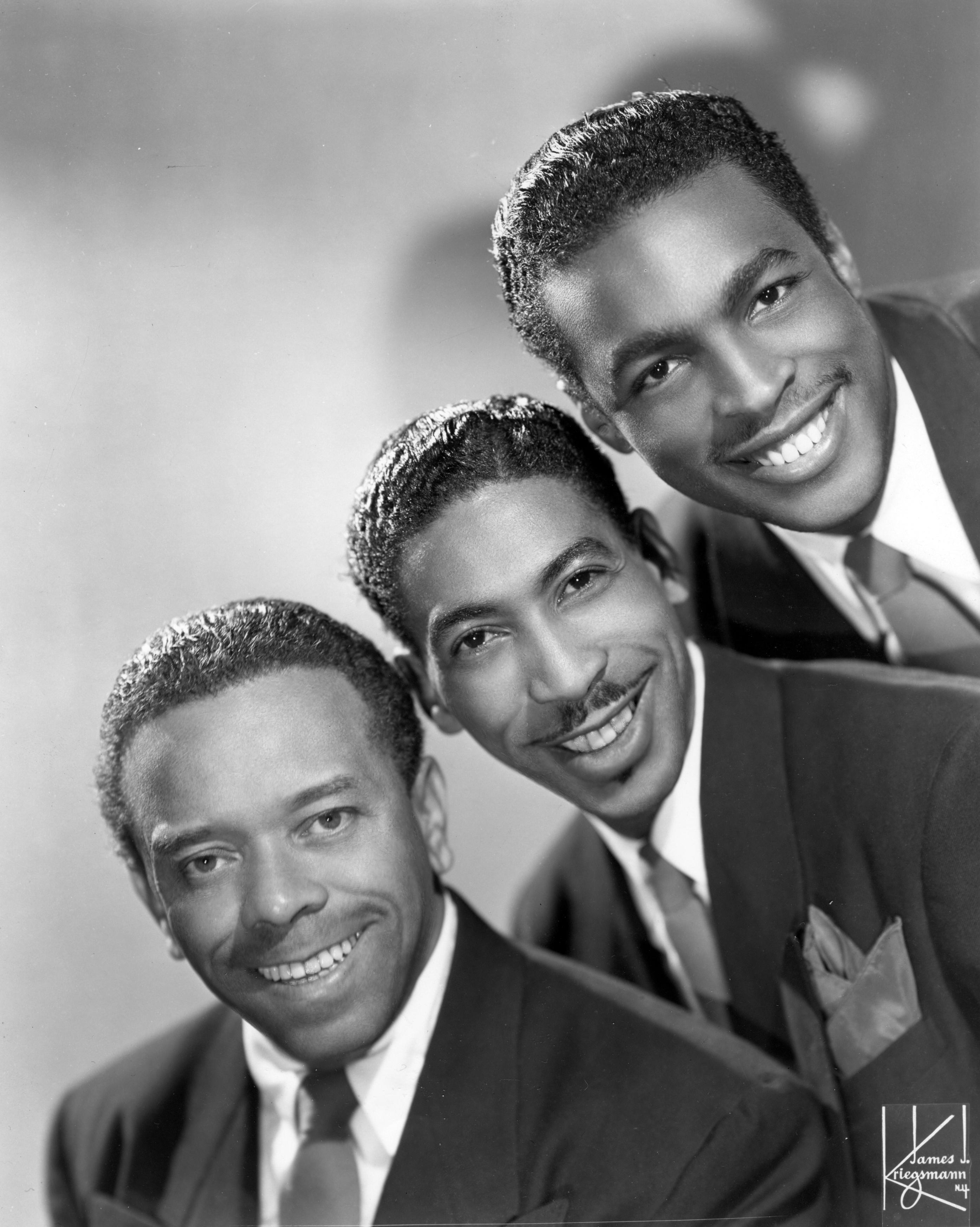 Charles Brown (far right) with fellow Blazers (from left) Johnny Moore and Eddie Williams.