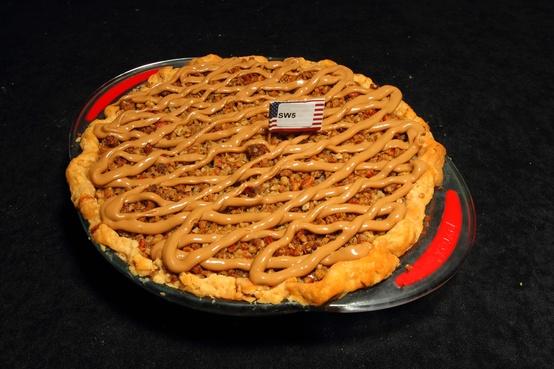 A shot of the winning pie