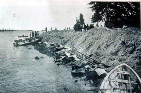 Bodies collected on the shore at North Brother Island