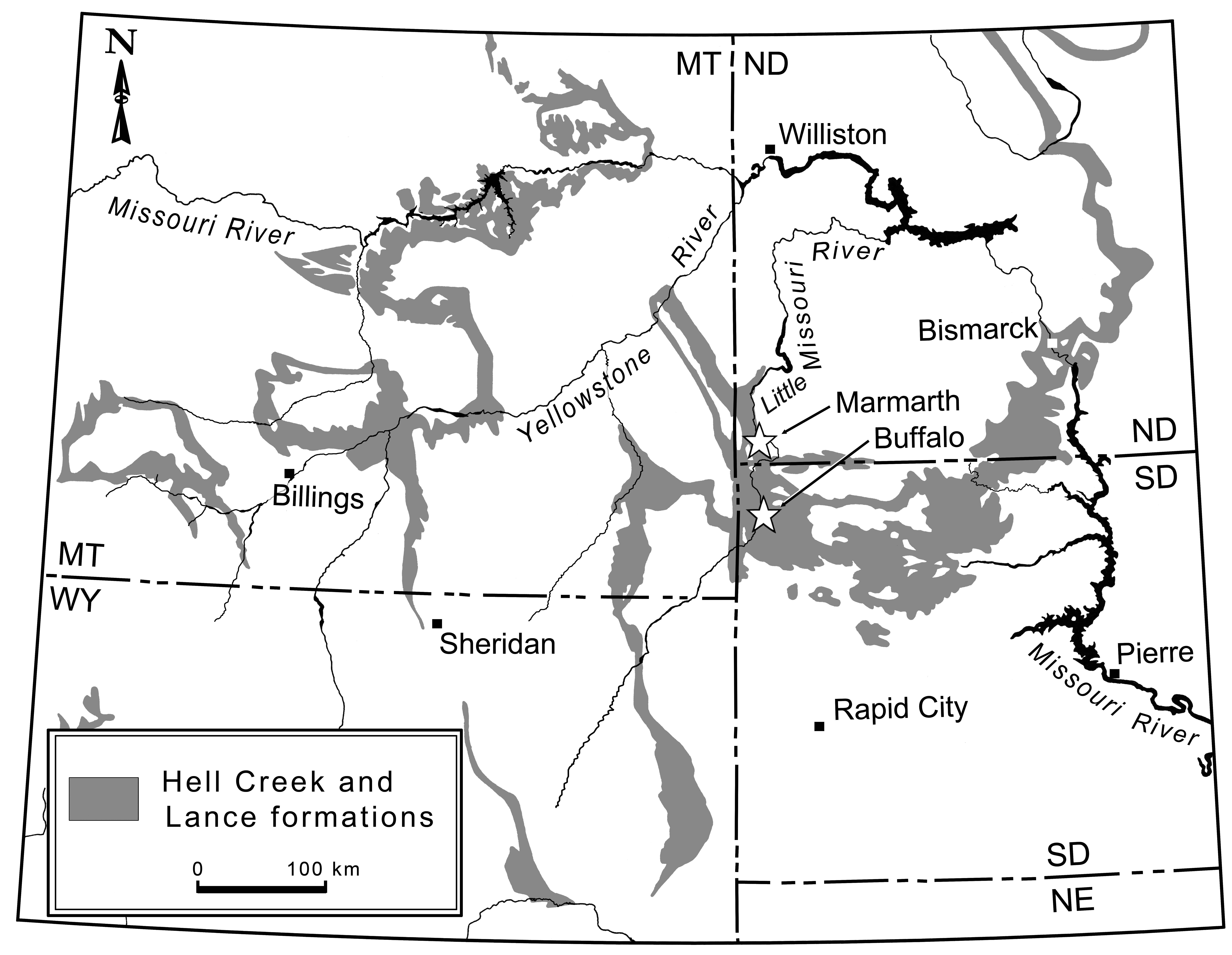 Map-Hell-Creek-Formation