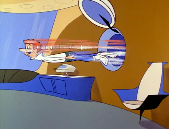 George is thrown from a pneumatic tube (1963)