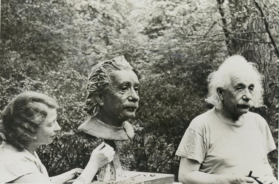 Albert Einstein and Sculptor Gina Plunguian1