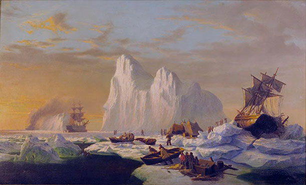 Caught in the Ice Floes (1867), by William Bradford
