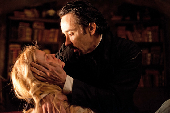 Alice Eve and John Cusack in Relativity Media's The Raven