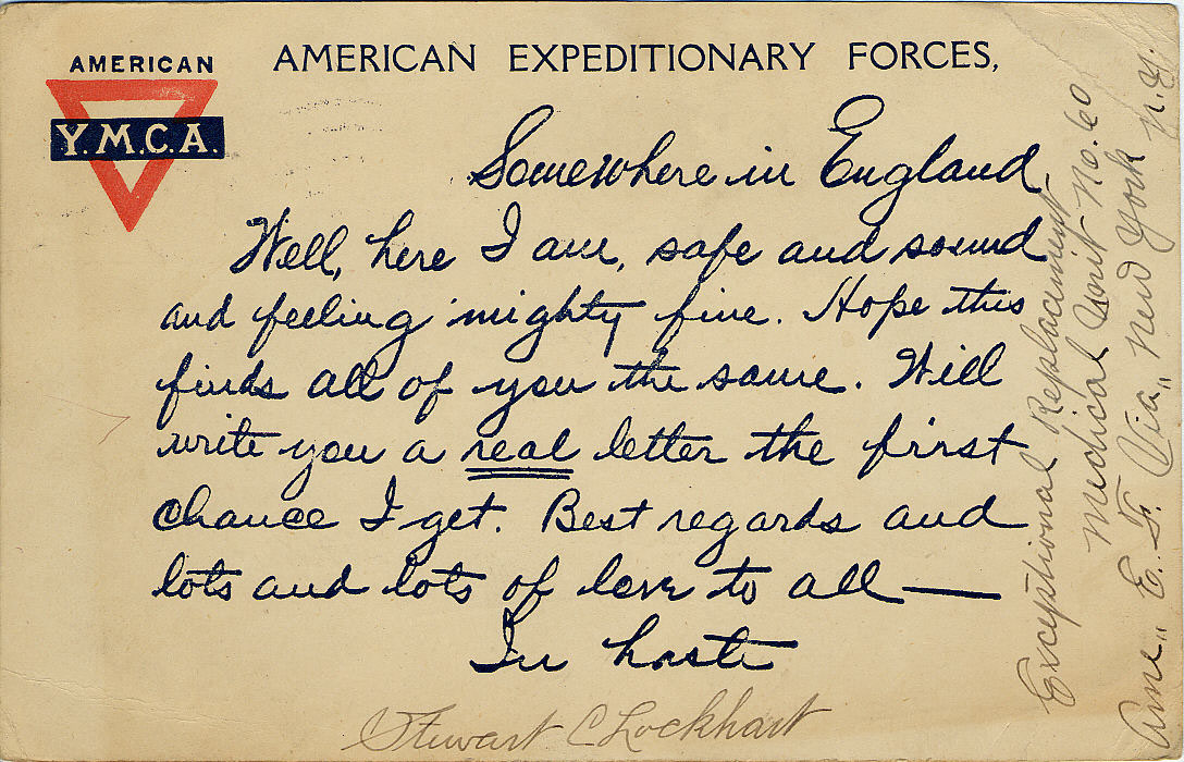 stewart c lockhart sent this card to mrs nellie bailey in october 1918 national postal museum