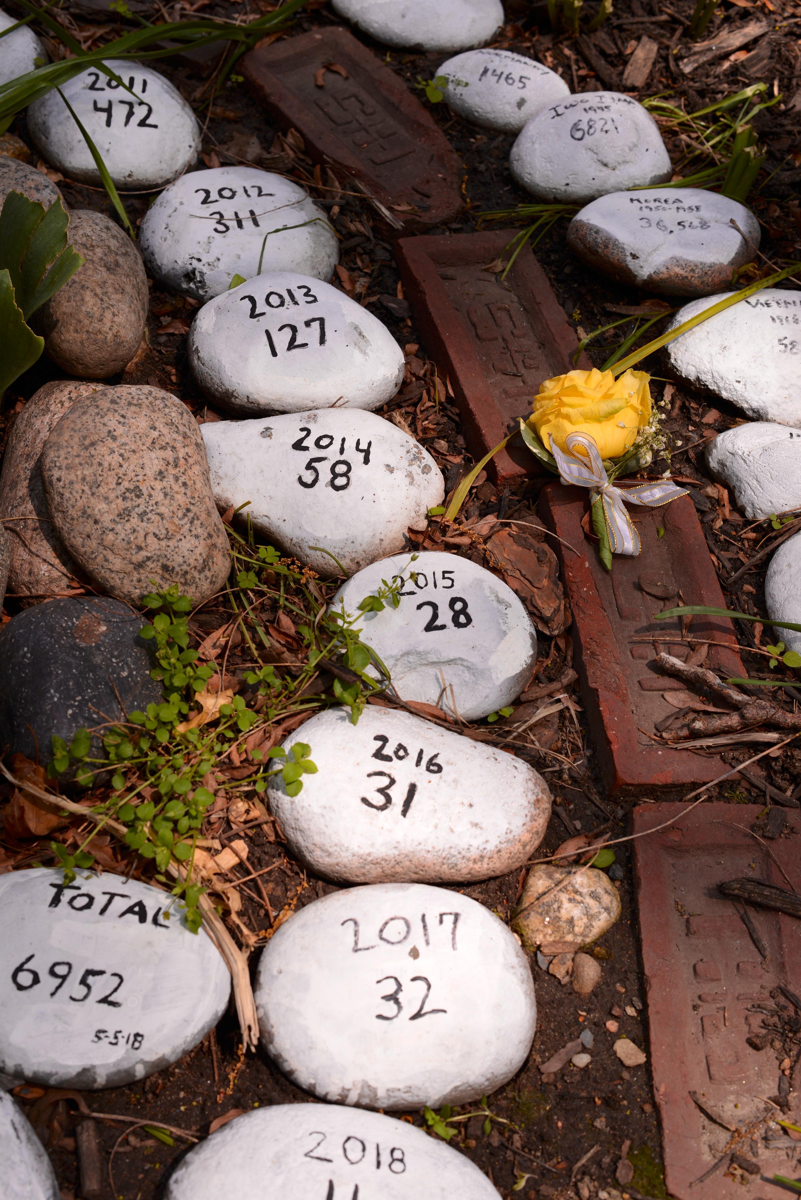 stones at Old North Church Memorial Garden