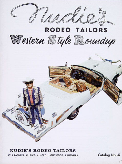 The cover of a 1960s Nudie's Rodeo Tailors catalog