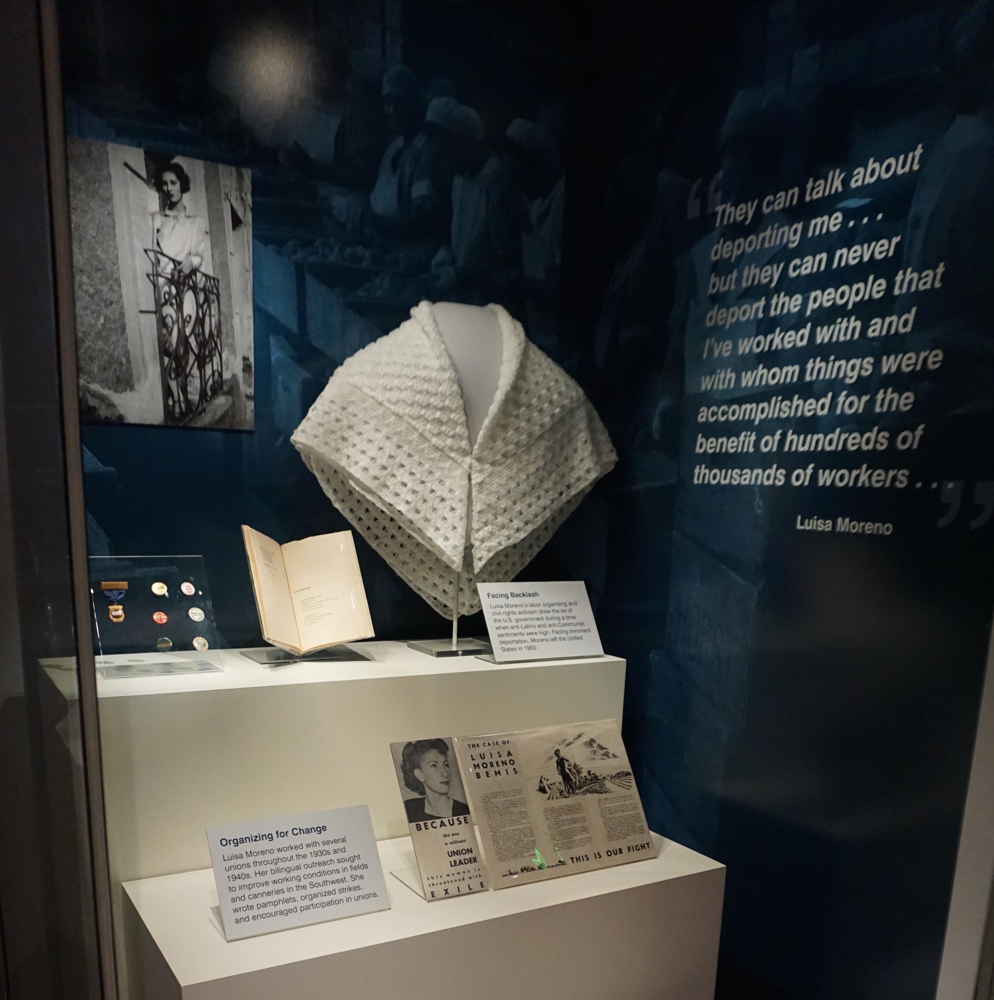 Display of Luisa Moreno