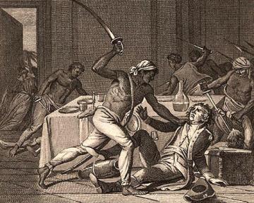 Scenes of slave rebellion