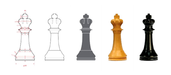 Daniel Weil's design for a Staunton king