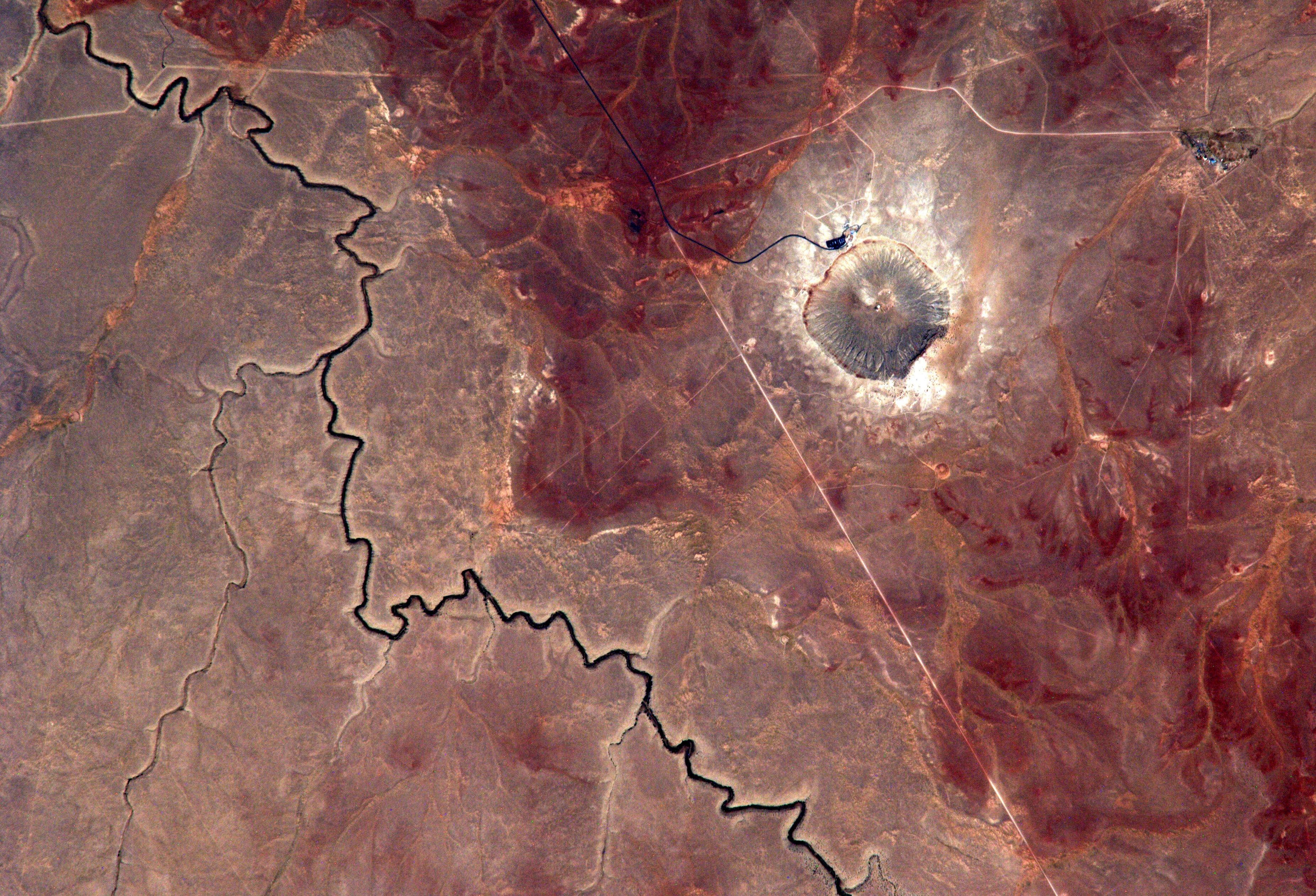 Arizona still bears the 37-mile-wide scar from a 160-foot asteroid.