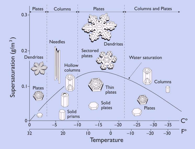 Snow crystal morphology