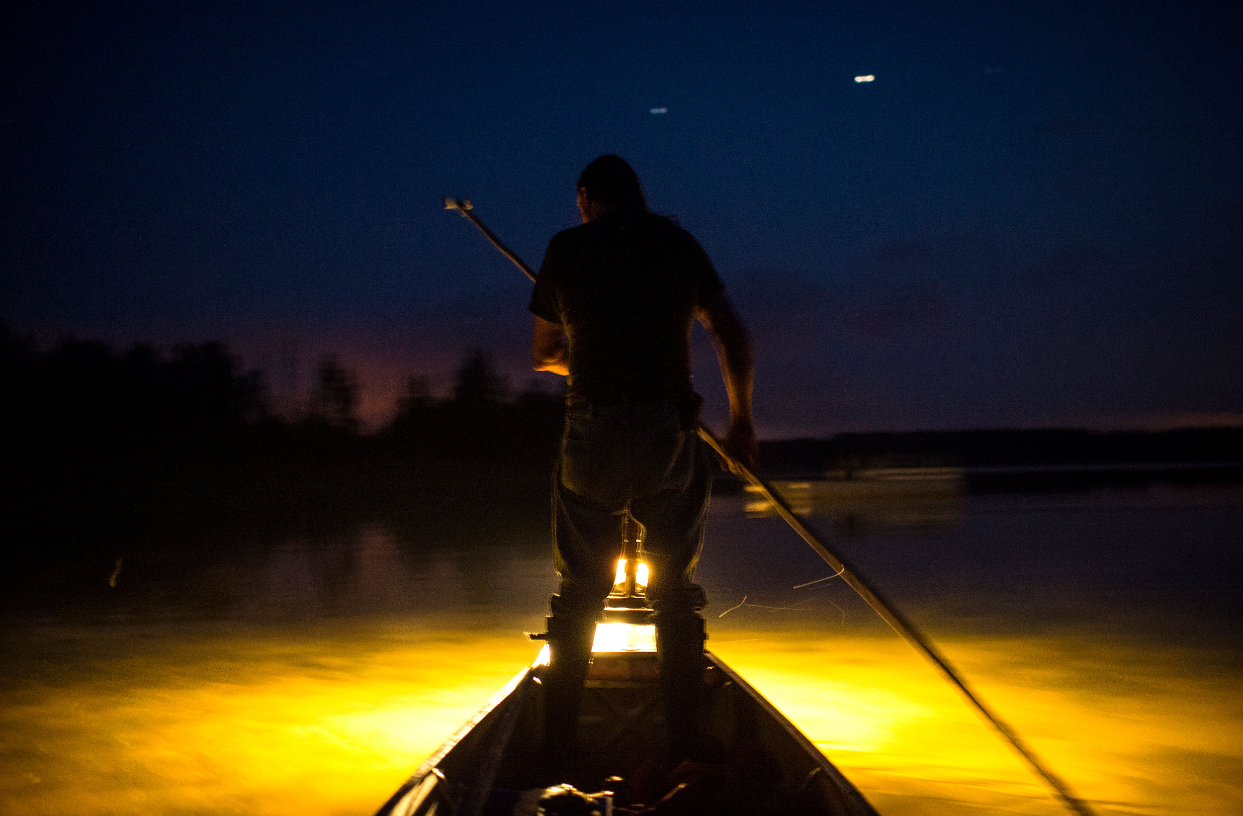 Prosper navigates Pomquet Harbour with light from a lantern