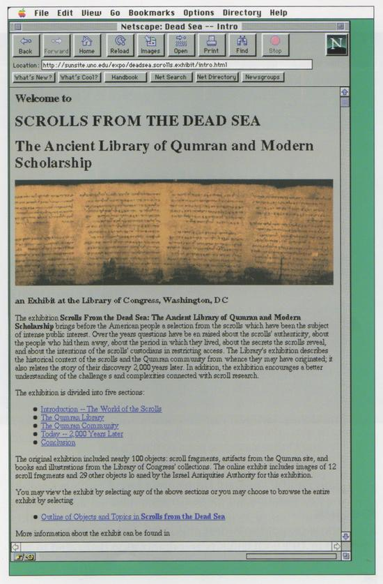 """A """"virtual exhibit"""" on the Dead Sea Scrolls from UNC"""