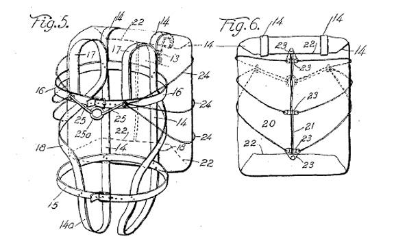 Floyd Smith, patent 1,340,423 for a parachute, 1918