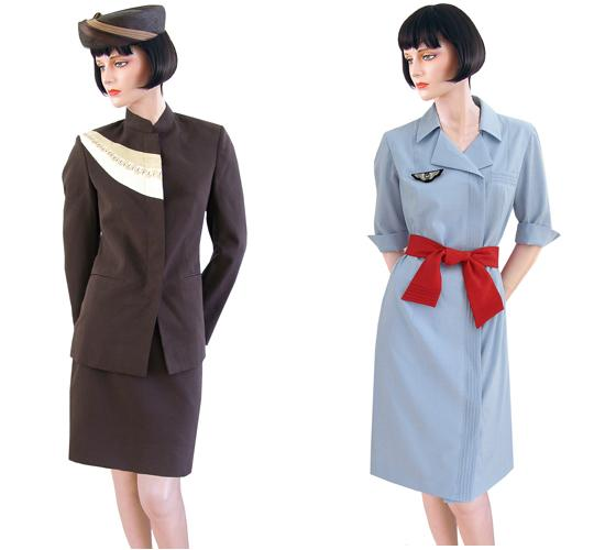 Current uniforms for Air Uganda and Air France