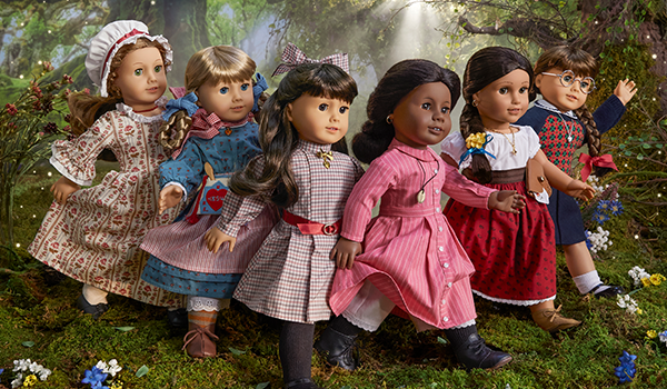 To mark its 35th birthday, American Girl rereleased its original six characters (L to R): Felicity Merriman, Kirsten Larson, Samantha Parkington, Addy Walker, Josefina Montoya and Molly McIntire.