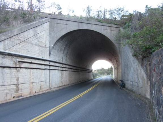 Inside this small tunnel