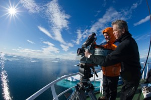 MacGillivray and director of photography Ohlund in Norway during the making of To the Arctic 3D