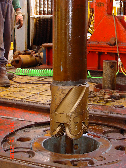 Due to the stress of penetrating seafloor rock, drill bits will have to be replaced after just 50 to 60 hours of use.